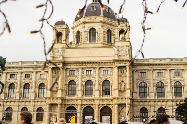 Beautiful surroundings of a Xmas market in Vienna/Austria