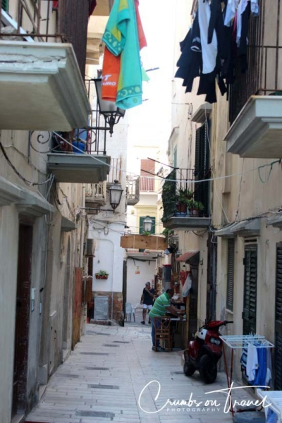 The city Vieste in the Gargano National Park in Apulia/Italy