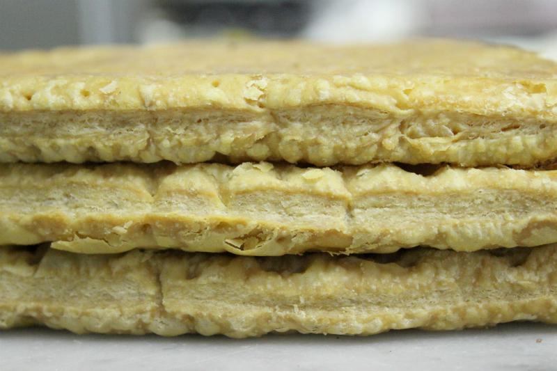 Fresh puff pastry