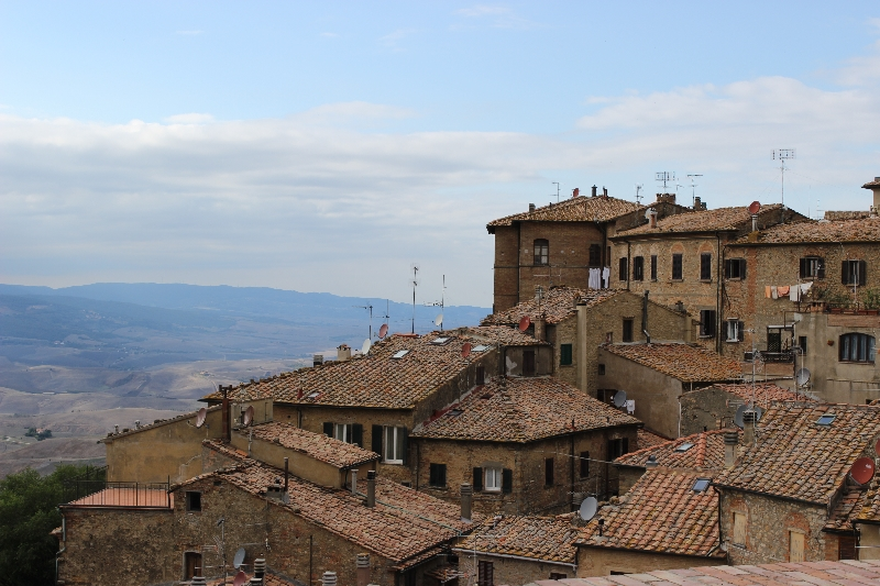 View on the roofs of Volterra, Tuscany