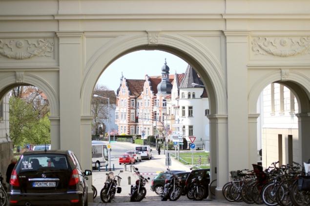 Entance gate in Schwerin, Germany