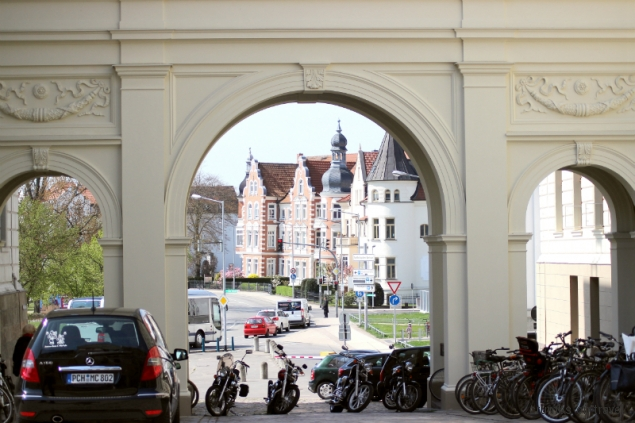 Entance gate in Schwerin, Germany