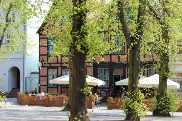 Market in Schwerin, Germany