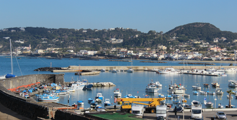 View of the port of Forio/Ischia, Italy