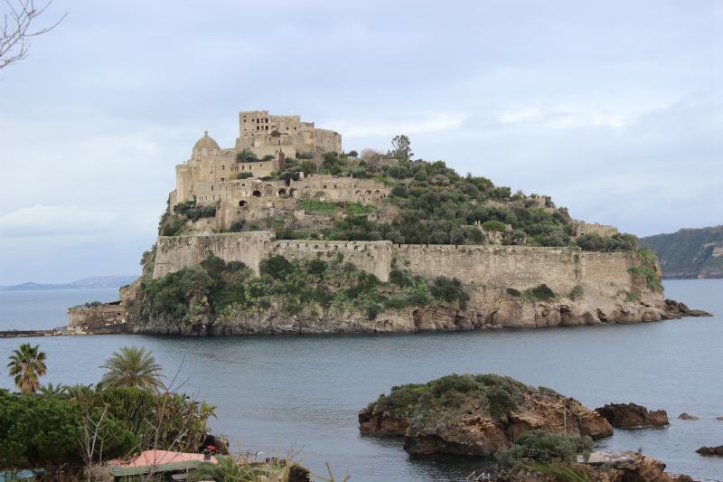 The Aragonese castle in Ischia Porto/Ischia, Italy