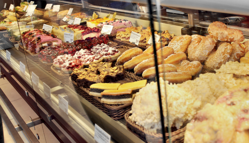 Typical cakes and biscuits in Germany