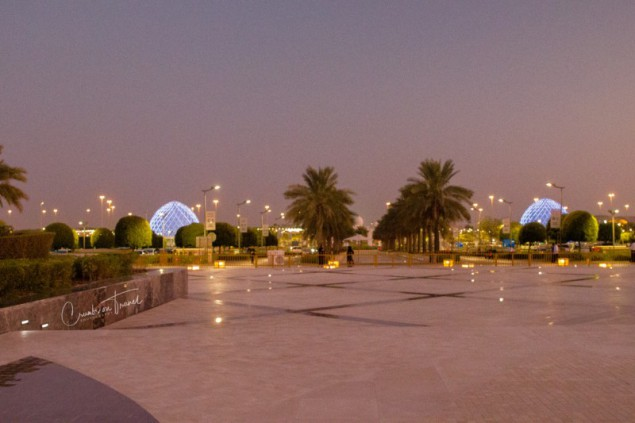 Sheikh Zayed Grand Mosque, sunset