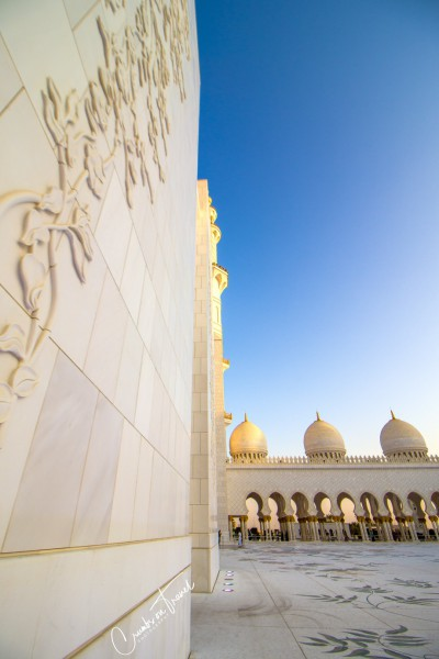 Courtyard of the Sheikh Zayed Grand Mosque