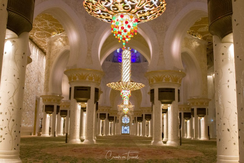 Inside the Sheikh Zayed Grand Mosque