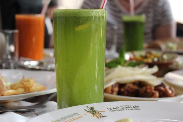 Lemon drink, Windmills Restaurant, Amman, Jordan