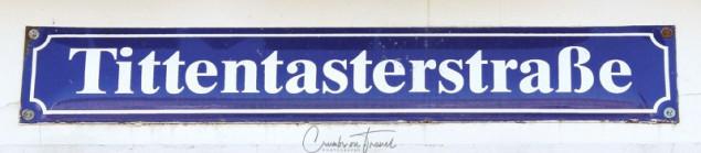 Street sign in Wismar
