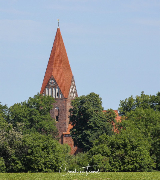 Bell tower of a church in Mecklenburg-Vorpommern, Germany