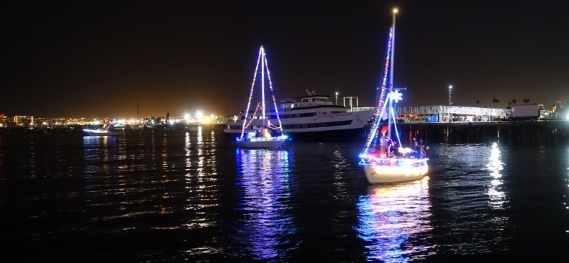 Christmas Boat Parade in San Diego, California/USA