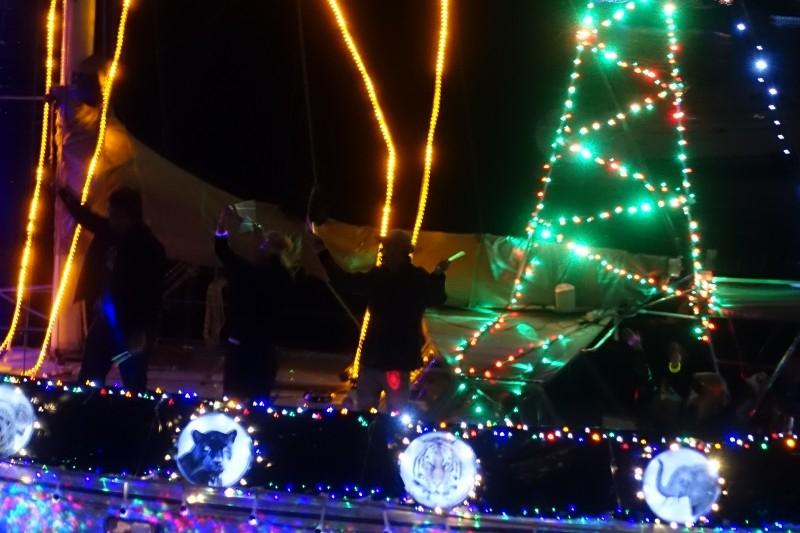 Christmas Boat Parade in San Diego, California/USA