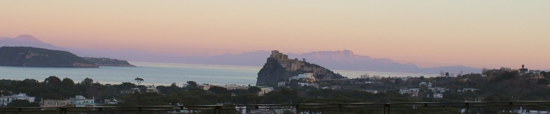 View of Castello Aragonese to the mainland, Naples, Italy