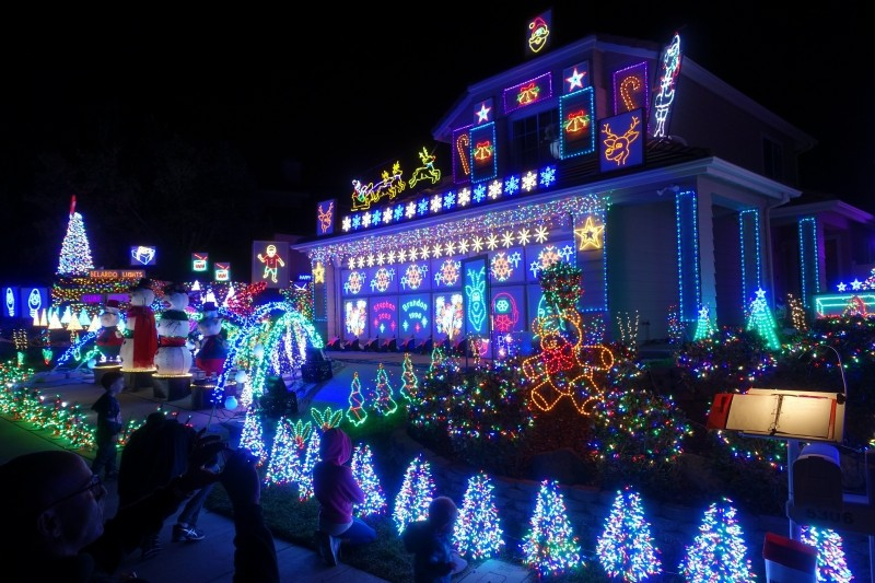 Christmas lights in San Diego, California/USA