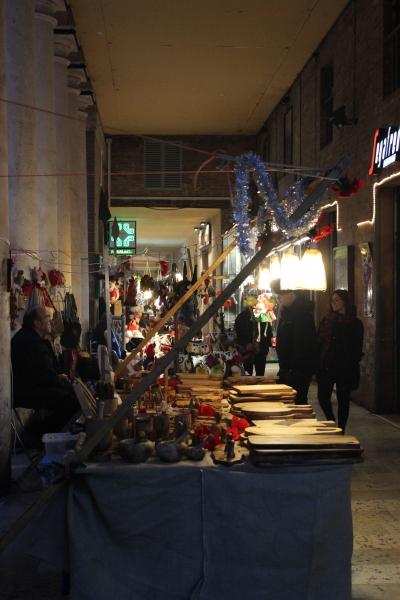 Christmas market, Urbino, Italy