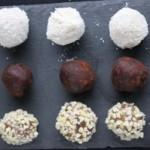 Paleo chocolate truffle with dates and tahini
