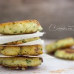 Potato Patties with parsley and bacon