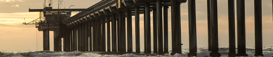 Sunset at Scripps Pier in San Diego, California/USA