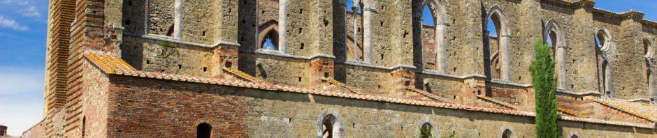 The Abbey of San Galgano in Tuscany/Italy